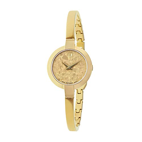 - Movado Women's Swiss Quartz Gold-Tone-Stainless-Steel Casual Watch, Color:Gold (Model: 0607018)