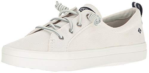 SPERRY Women's Crest Vibe Linen Sneaker, White, 7.5
