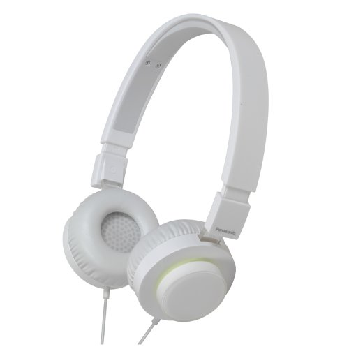 Panasonic RP-HXD5C-W Street Style Monitor Headphones, White (Discontinued by Manufacturer) - Panasonic Monitor Style Headphones