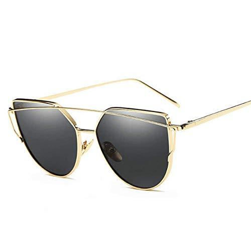 White Color Gold UV400 métal Gold Monture de Soleil Eye Cat à en Gray Sakuldes Lunettes TOvCWZB77