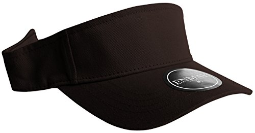 Enimay Sports Tennis Golf Sun Visor Hats Adjustable Velcro Plain Bright Colors Black (Sun Visor Cap Sports)