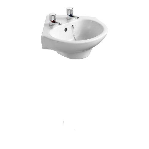 Ideal Standard E114001 White Studio 450 mm Corner Pedestal Wash Basin,