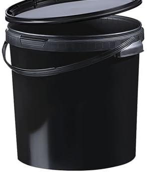 Kunststoff Eimer Schwarz Black 21 1 Ltr Mit Deckel 10 Stück Drogerie Körperpflege