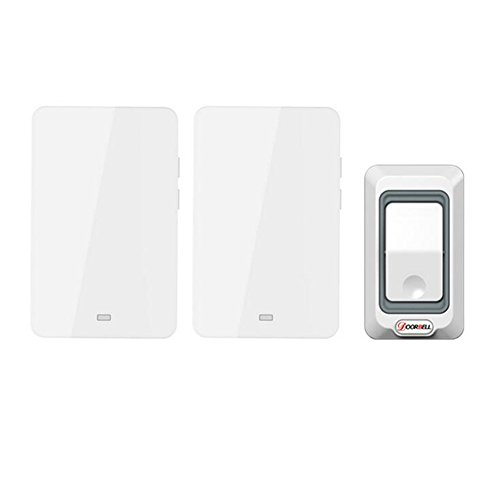 MIAO@LONG Wireless Door Bell With 28 Chimes 4-Level Adjustable Volume Work Over Range 492-Feet(150M) With LED Light Of Receiver,White by MIAO@LONG