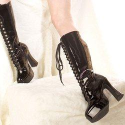 Ellie Zapatos - Botas Para Adultos Fáciles (negras), Negras, 8