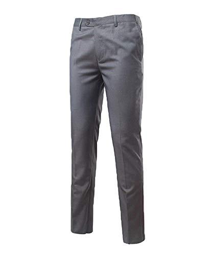Vintage Leggeri Pantaloni Abito Smoking Grau Ufficio Fit Da Slim Targogo Casual Uomo Chino Business Sposa vnqWdwOCf