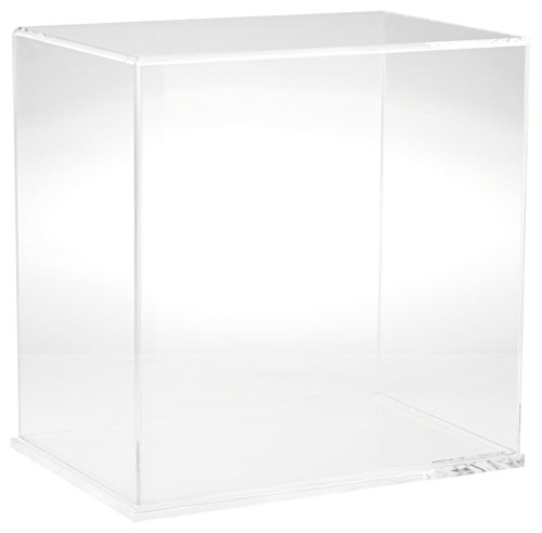 Plymor Clear Acrylic Display Case with Clear Base, 12 W x 8 D x 12 H