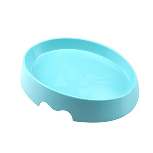 Hometom Silicone Pet Bowl Food Grade Cup Dish For Pet Dog/Cat Food Water Feeding Travel Bowl (Blue)