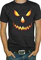 Pumpkin Head Halloween T-Shirt (Black)