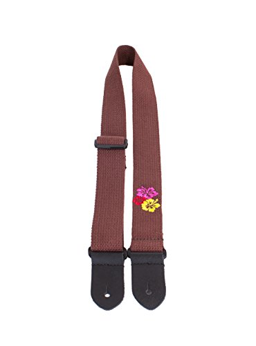 (Perris Leathers CWS15EMB-7109 Cotton Ukulele Strap with Embroidered Design- 1.5
