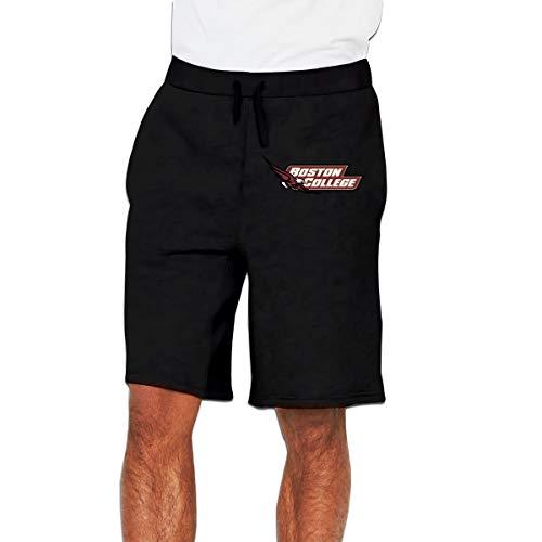 Kinggo Mens Custom Boston College Eagles Cool with Pockets Short Running Shorts Pants Black 3XL ()