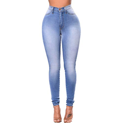 MALLTY Jean Extensible Taille Haute Taille Haute Jean Denim Skinny Jeans (Color : Style 3, Size : L) Style 3