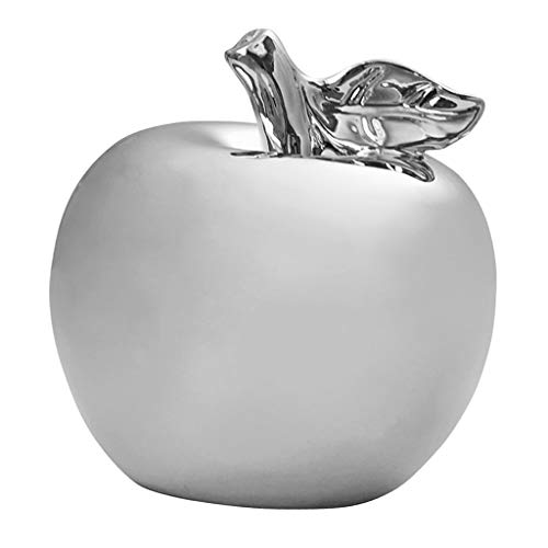 kesoto Creatieve Keramische Apple Ornament Home Decorations Plated Features - Silver