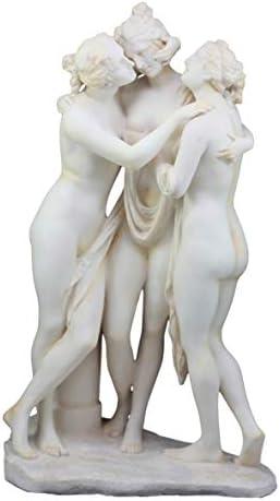 Ebros Large Hermitage Museum Replica Classical Antonio Canova Three Graces Figurine Charites of Zeus Decor Statue 17 H