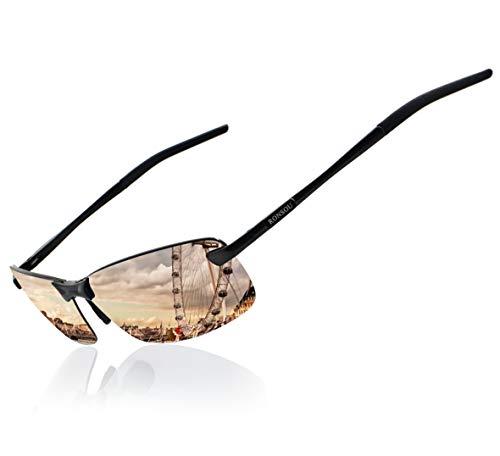 096202668b Ronsou Men UV400 Rimless Aluminium-Magnesium Polarized Sunglasses For Driving  Fishing Golf Outdoor