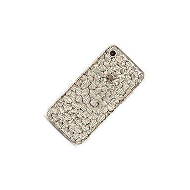 Fundas y estuches para teléfonos móviles, Caso para el iphone 7 más 7 la cubierta transparente de la cubierta del patrón de la cubierta de la caja florece el tpu suave para el ( Modelos Compatibles :  IPhone 6s Plus/6 Plus