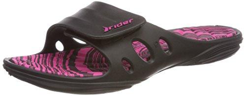 Ruiter Dames Sleutel X Fem Synthetische Pantoffels Zwart-roze