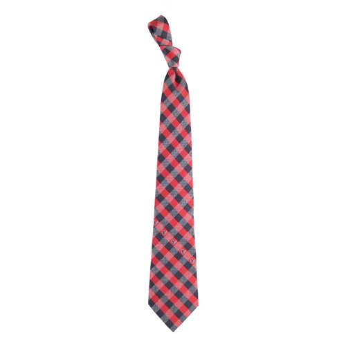 Houston Texans Check Poly Necktie