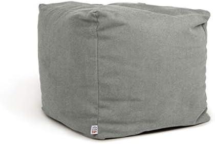 Arketicom Soft Cube Suave Puf sillón Saco Cuadrado reposapiés extraíble Diseño Moderno de salón Relleno Bolas poliestireno Forro Interior extraíble ...