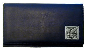 Siskiyou SDCK2 Leather Checkbook Cover w/Scuplted Eagle Emblem Black