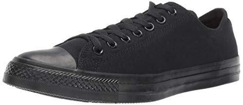 Converse Unisex Chuck Taylor All Star Low Shield, Black/Black, 9 Women/7 Men