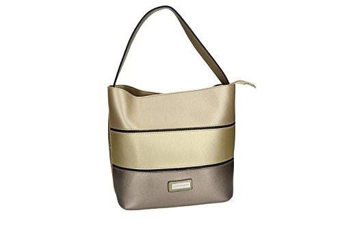 Bolsa mujer hombro PIERRE CARDIN oro con abertura con zip VN1815