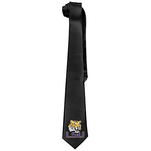 [Ggift LSU Tiger Logo Mens Fashion Business Solid Necktie Neck Ties] (Lsu Mascot Costume)