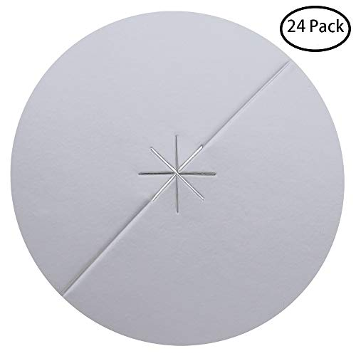 PAGOW 24-Pack Beeswax Candle Protectors - Personal Ear Care Protective Disk/Disc (Dia. 8cm) ()