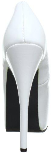 Bordello Damen Teeze-06 Pumps Weiß (Wht pat)