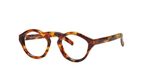 Club LA 2944 Men's Women's Oval Angular Plastic Eyeglasses Vintage 90s ()