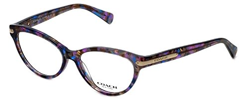 COACH Eyeglasses HC 6066 5288 Confetti Purple 51MM