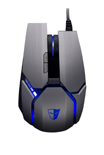 Price comparison product image Tesoro Gandiva H1L 8200 DPI 8 Programmable Onboard Memory Key Lift Detection Full Color RGB LED Illumination Silver Laser Gaming Mouse TS-H1L