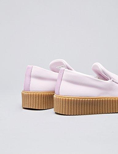 FIND Plateau Schuhe Damen Gerippte Sohle Dekorative Naht Pink