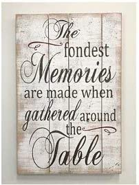 Kitchen Sign The Best Memories are Made Gathered Around The Table Wood Kitchen Sign Dinning Room Sign Farmhouse Kitchen Sign 24