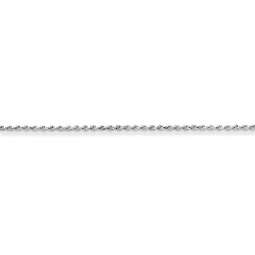 Brilliant Bijou Sterling Silver Rhodium Plated 2.25mm D/C Rope Chain Necklace 20 - Chain Rope D/c