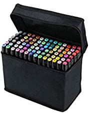 Scienish Touch5 Graphic Design Art Twin Tips Marker Pens 80 Colors Kit Black W060027
