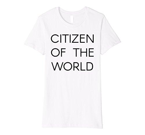 Womens Citizen of the World T-Shirt Medium White