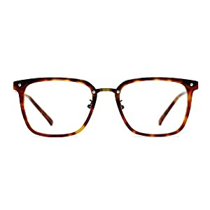 TIJN Square Acetate Frames with Metal Wiring Optical Eyeglasses