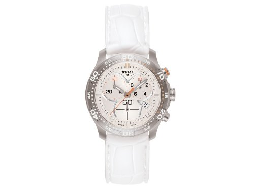 Traser H3 Ladytime Silver Chronograph Ladies Watch T7392.S5H.G1A.08 / 100353