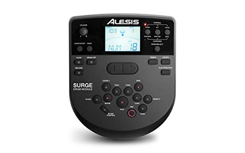 Alesis SURGE MESH KIT Eight-Piece Electronic Drum Kit with Mesh Heads + On Stage Drum Stick Holder DA100 & On Stage Maple Wood 5B (1 Pair) Of Drumsticks by Alesis (Image #6)