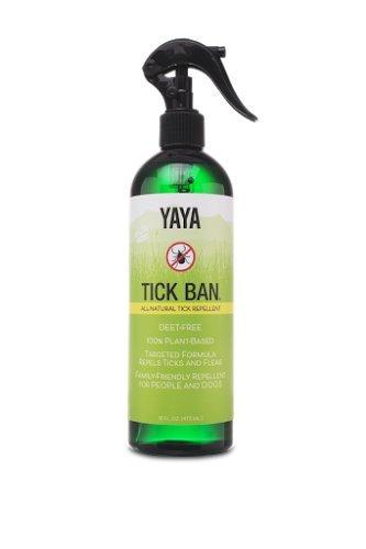 TICK BAN Yaya Organics All Natural 16 Ounce Spray Bottle