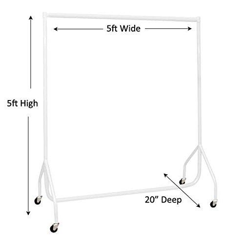 The Shopfitting Shop Kleiderstange 1,5 m Lang x 1,5m Hoch, Robust, 32mm Stahlrohr, Weiß 5m Hoch 32mm Stahlrohr Weiß 1623458974663