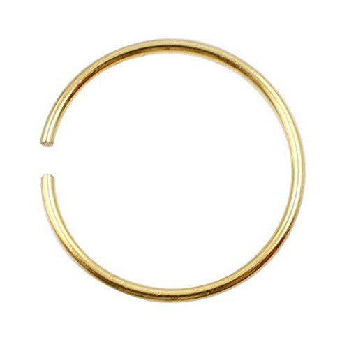 Crookston Thin Surgical Steel Nose Ring Hoop Lip Ear Eyebrow Cartilage Body Piercing Gift | Model RNG - 3098 | 8mm
