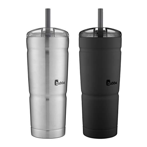 bubba 2072357 Envy S Tumbler, 24 oz, Black and Stainless Steel, 2 Pack]()