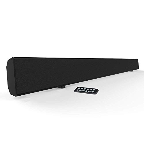 Sound Bar Meidong Sound Bars for TV Soundbar Wired & Wireless Bluetooth Sound Bars (30-Inch Speakers/RCA/AUX/Remote Control)