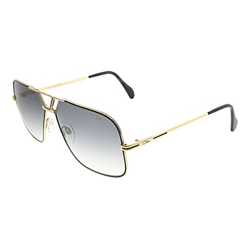 c9735aca287 Cazal Legends 725 002SG Black Gold Metal Aviator Sunglasses Grey Gradient  Lens