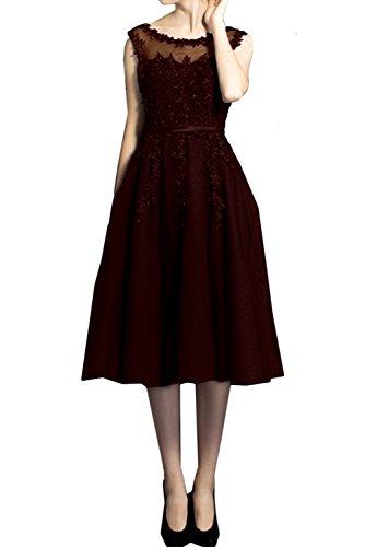 Topkleider - Vestido - trapecio - para mujer rojo oscuro