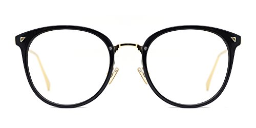 TIJN Women Retro Round Non-prescription Glasses Frame Optical Eyeglasses - Round 50mm