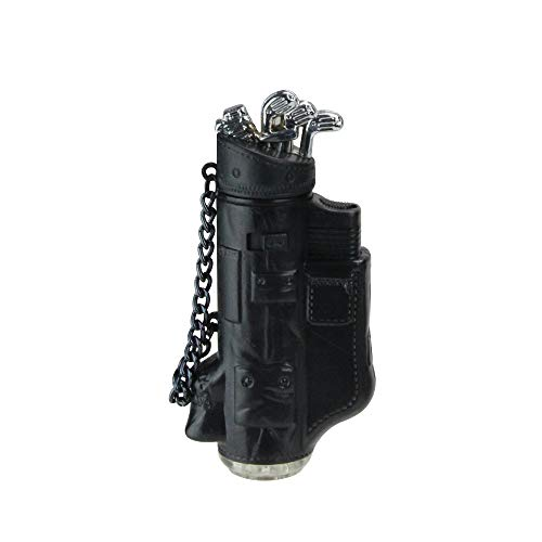 Christmas Central Exclusive Black & Silver Golf Bag Blow Torch Refillable Versatile Lighter in Gift Box (Golf Bag Gift Box)