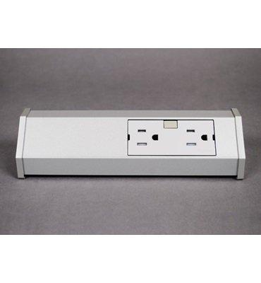 adorne Titanium 15A Tamper-Resistant 2-Outlet Modular